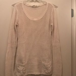 Athleta Mesh Sweater